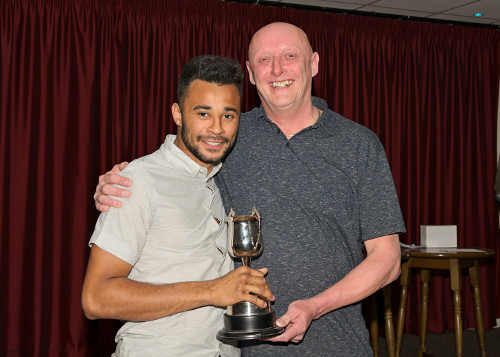 The Gary Hawksworth Memorial Trophy For The Most Improved Player Jordon Frederick